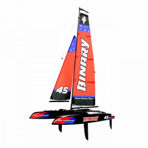 Joysway Binary 400mm Mini Catamaran RC Sailboat with 2.4GHz Radio System - JOY8807R