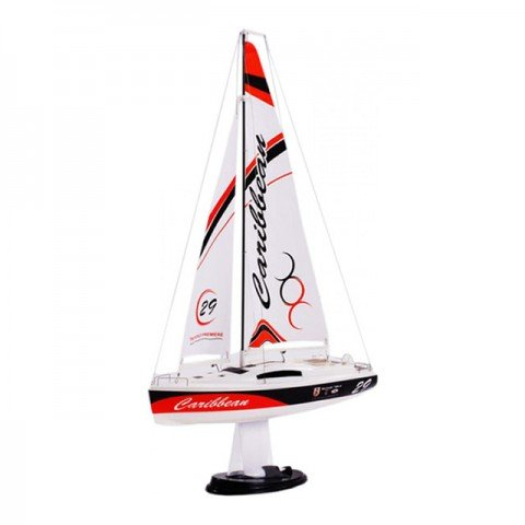 Joysway Caribbean 1/46 Scale Mini Electric Sailboat with 2.4Ghz Radio System - JS-8802-24G
