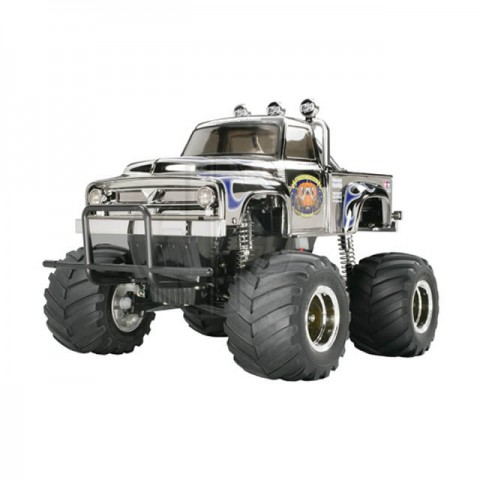 Tamiya RC Midnight Pumpkin Metallic Chrome 1/12 Monster Truck Assembly Kit - TAM-58365