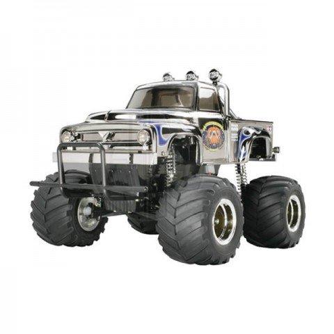 Tamiya RC Midnight Pumpkin Metallic Chrome 1/12 Monster Truck Assembly Kit - TAM-58365