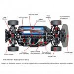 Tamiya 1/10 RC Raikiri GT Car TT-02 with ESC and Motor (Unassembled Kit) - 58626