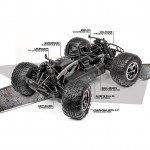 HPI Savage XS Flux with Ford Raptor Body with 2.4Ghz Transmitter - 115125