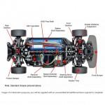 Tamiya 1/10 Subaru WRX STI 24hr Nürburgring TT-02 RC Car (Unassembled Kit) - 58645