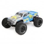 ECX Ruckus 1/10 2WD RTR RC Monster Truck with LiPo Battery (Silver/Blue) - ECX03131IT1