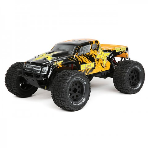 ECX Ruckus 1/10 2WD RTR RC Monster Truck with LiPo Battery (Black/Orange) - ECX03131IT2