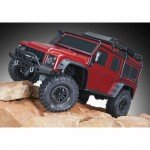 Traxxas TRX-4 1/10 Land Rover Defender Rock Crawler with TQi Radio System (Red) - TRX82056-4R