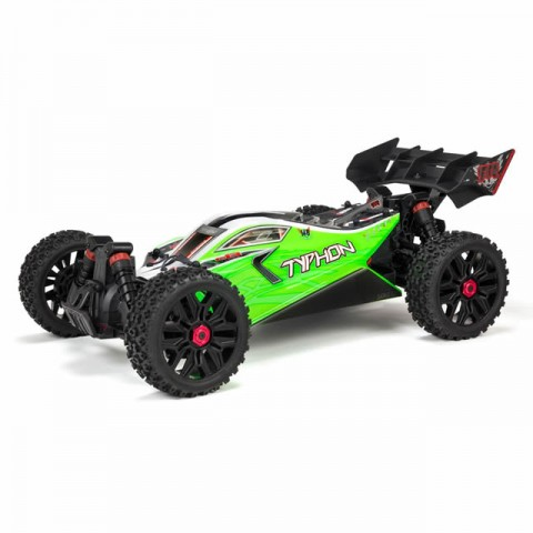 Arrma 1/8 Typhon Mega 550 Brushed 4WD Speed Buggy with 2.4Ghz Radio System (Green) - ARA102694I