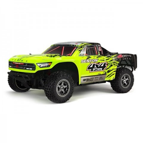 Arrma Senton 4x4 3S BLX 1/10 Brushless Short Course Truck (Green/Black) - ARA102721T1