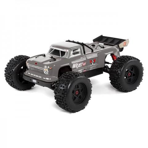 Arrma Outcast 6S BLX Brushless Stunt Monster Truck (Silver) - ARA106042T1