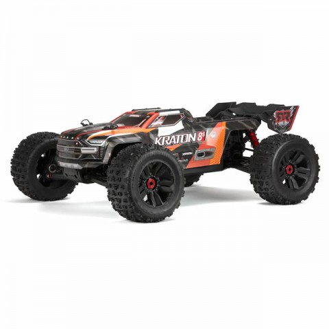 Arrma Kraton V2 8S BLX Brushless 1/5 4WD Monster Truck with Spektrum DX3 Transmitter (Orange) - ARA110002T2