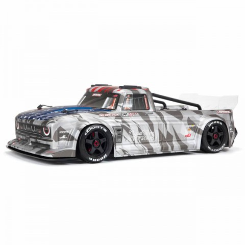 Arrma Infraction V2 6S BLX Brushless 1/7 4WD Truck with DX3 AVC Radio and Smart ESC (Silver) - ARA7615V2T2