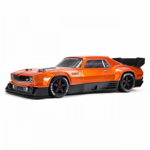Arrma Felony 6S BLX Brushless 1/7 4WD Muscle Car with DX3 AVC Radio and Smart ESC (Orange) - ARA7617V2T2