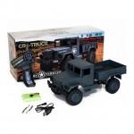 Funtek 1/16 CR4 Grey Military Truck Crawler 4WD with 2.4GHz Radio System (RTR) - FTK-CR4-GR