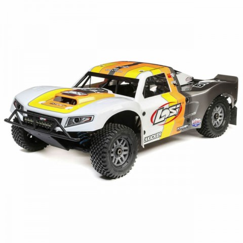 Losi 5IVE-T 2.0 1/5 4WD Short Course Petrol Truck Bind-N-Drive (Grey/Orange/White) - LOS05014T2