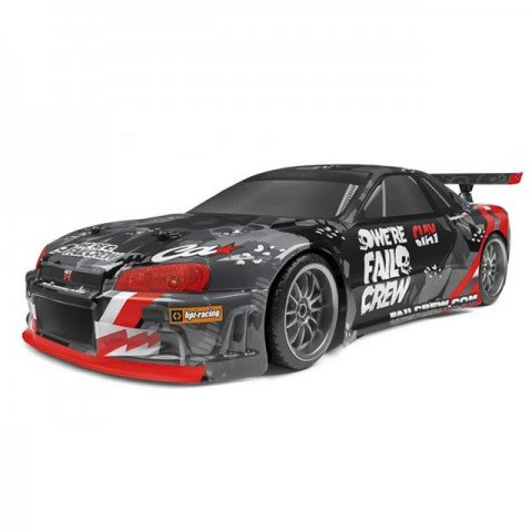 HPI 1/10 E10 Drift Fail Crew Nissan Skyline R34 GT-R RC Car (Ready-to-Run) - 120091