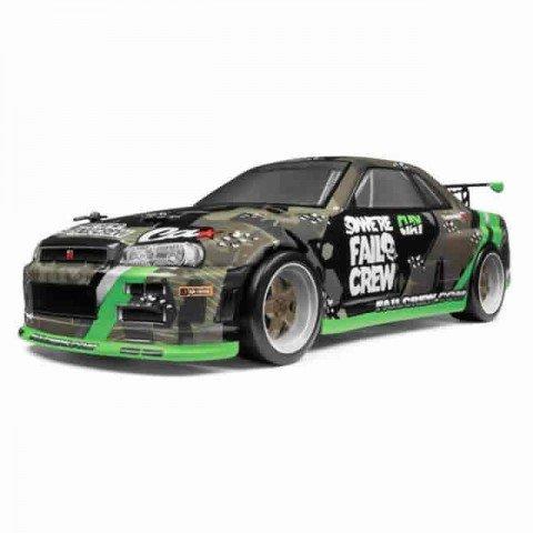 HPI Micro RS4 1/18 Drift Fail Crew Nissan Skyline R34 GT-R RC Car (Ready-to-Run) - 120101