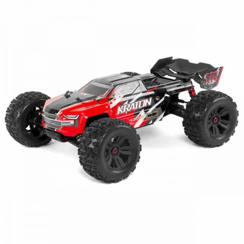 Arrma Kraton 6S BLX 1/8 4WD Brushless Monster Truck with Spektrum Radio (Red) - ARA106040T1