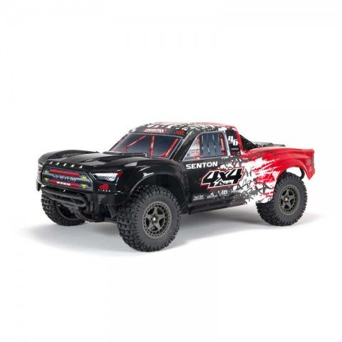 Arrma 1/10 SENTON 4X4 V3 3S BLX Brushless Short Course Truck (Red) - ARA4303V3T2