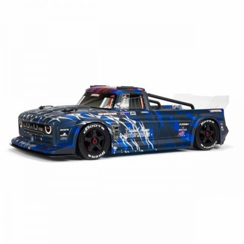 Arrma Infraction V2 6S BLX Brushless 1/7 4WD Truck with DX3 AVC Radio and Smart ESC (Blue) - ARA7615V2T1