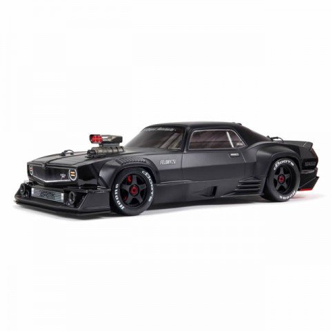 Arrma Felony 6S BLX Brushless 1/7 4WD Muscle Car with DX3 AVC Radio and Smart ESC (Black) - ARA7617V2T1