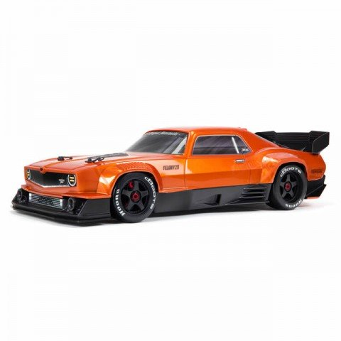 Arrma Felony 6S BLX Brushless 1/7 4WD Muscle Car with DX3 AVC Radio and Smart ESC (Orange) - ARA7617V2T2