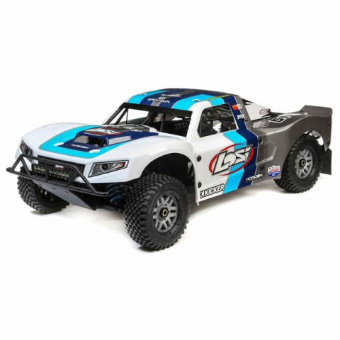 Losi 5IVE-T 2.0 1/5 4WD Short Course Petrol Truck Bind-N-Drive (Grey/Blue/White) - LOS05014T1