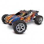 Traxxas Rustler 4X4 VXL Brushless 1/10 4WD Stadium Truck with 2.4GHz TQi Transmitter (Orange) - TRX67076-4-ORNG