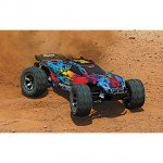 Traxxas Rustler 4X4 VXL Brushless 1/10 4WD Stadium Truck with 2.4GHz TQi Transmitter (Red) - TRX67076-4RD