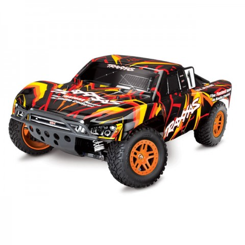 Traxxas Slash 4X4 4WD RTR Brushed Short Course Truck with TQ 2.4GHz Radio System (Orange) - TRX68054-1O