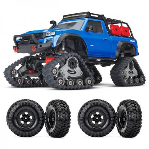 Traxxas TRX-4 1/10 Scale Trail Rock Crawler with All-Terrain Traxx and FREE Wheel Set (Blue) - TRX82034-4BLU