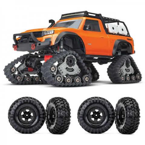 Traxxas TRX-4 1/10 Scale Trail Rock Crawler with All-Terrain Traxx (Orange) - TRX82034-4ORA