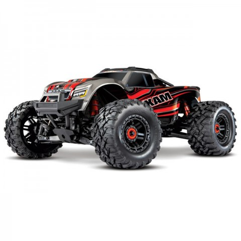 Traxxas Maxx 1/10 Brushless 4WD Monster Truck with TQi 2.4GHz Radio System (Red) - TRX89076-4RED