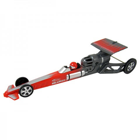 Estes 1/24th Blurzz Rocket Powered Dragster Car with 90ft Race Track (Red Menace) - ES2501