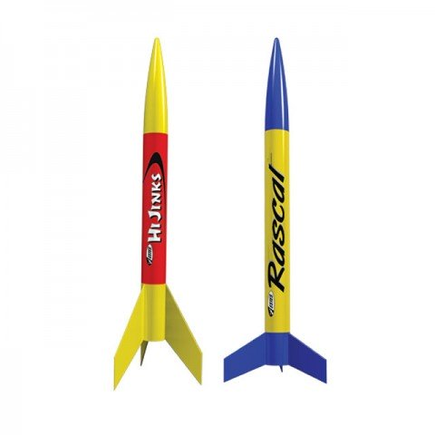 Estes Rascal and Hi Jinks Rocket Model Kits with Launch Set - ES1499