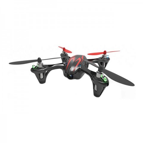 Hubsan X4 LED RTF Mini Quad Copter with 2MP HD Camera Recording (Black/Red) - H107CHD-BR