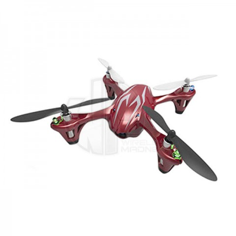 Hubsan X4 LED RTF Mini Quad Copter with 2MP HD Camera Recording (Red/Silver) - H107CHD-RS
