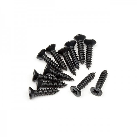 HPI TP Flat Head Screw M2.6x12mm (12 Screws) - 101273