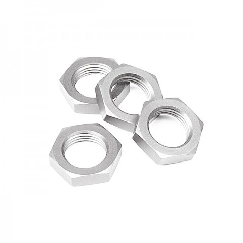 Ansmann Racing 17mm Self Locking Silver Wheel Nut (Set of 4 Nuts) - 203000165