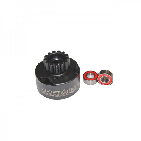 Answer RC 1/8th 13 Tooth Vented Clutch Bell with 5x10mm Bearings - ANSCBV213