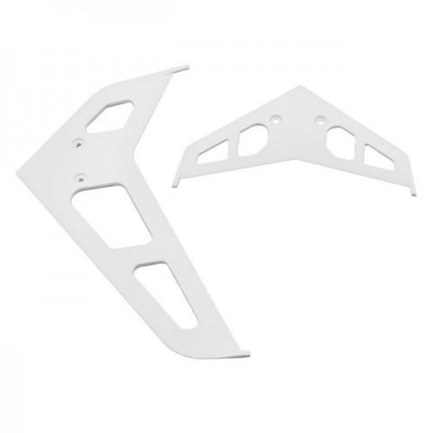 Blade 450 3D White Stabilizer Fin Set - BLH1672