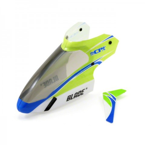 Blade mCP X and Blade mCPX V2 Complete Green Canopy with Vertical Fin - BLH3519