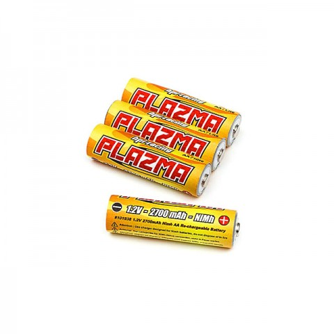 HPI Plazma Rechargeable AA 1.2V 2700mAh NiMh Battery (Pack of 4 Batteries) - 101938