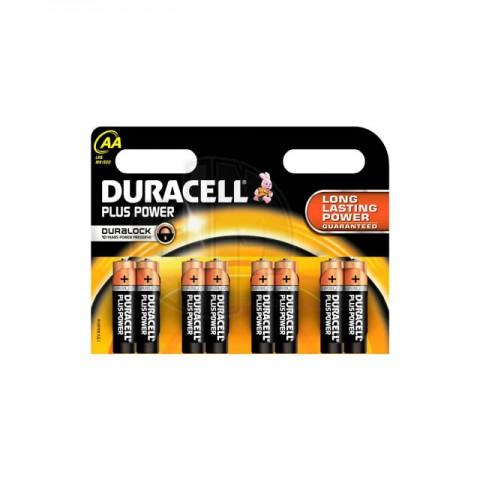 Duracell Plus Power Duralock AA Alkaline Battery (Pack of 8 Batteries) - 18136