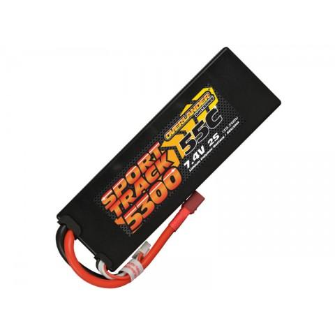 Overlander Sport Track 7.4v 2S 5300mAh LiPo 55C Battery with Deans Connector - OL-3141