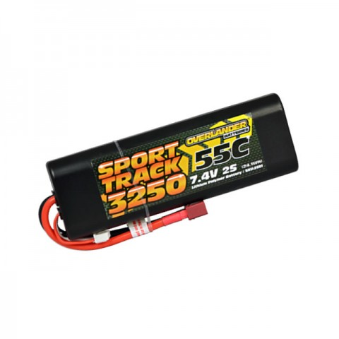 Overlander Sport Track 7.4v 2S 3250mAh LiPo 55C Battery with Deans Connector - OL-2581