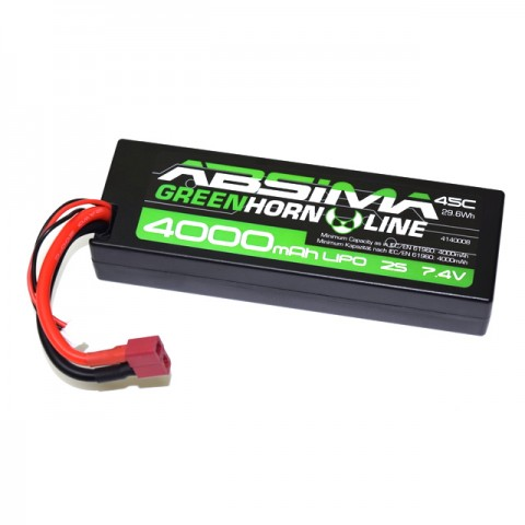 Absima 7.4v 2S 4000mAh LiPo 45C Battery with Deans Connector - 4140008