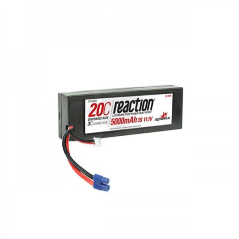 Dynamite Reaction 11.1V 5000mAh 3S 20C Hard Case LiPo Battery with EC3 Connector - DYN9006EC