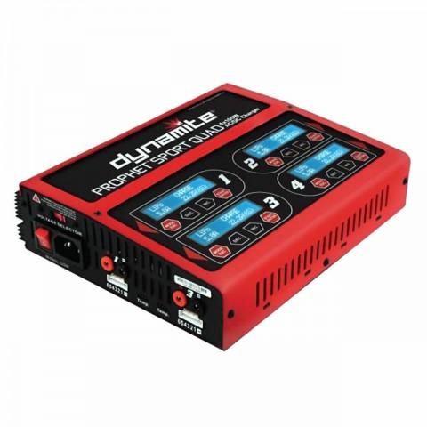 Dynamite Prophet Sport Quad 4 X 100W AC/DC LiPo, LiFe, NiMh and PB Battery Charger - DYNC2050UK