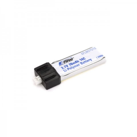 E-flite 70mAh 1S 3.7V 14C LiPo Battery for Blade Scout CX Helicopter - EFLB0701S