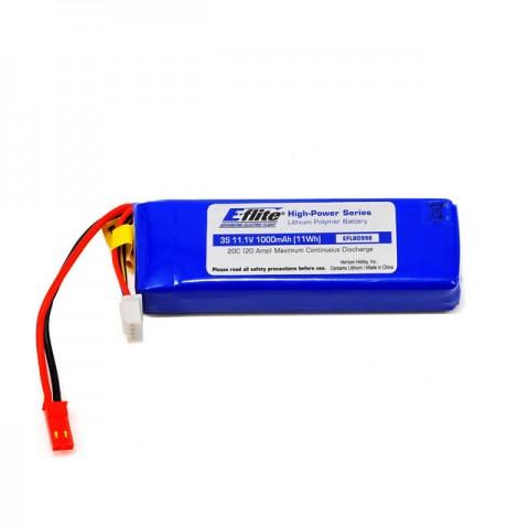 E-flite 1000mAh 3S 11.1V 20C LiPo Battery with JST Connector for Blade SR Heli - EFLB0998